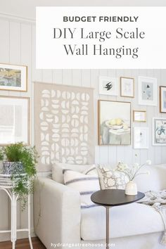 DIY large wall hanging for less. DIY large wall art is an affordable way to add personality and beautify to your space. This wall tapestry is a great home decor option not only for a boho or midcentury home, but works for almost any interior style – a great budget friendly DIY home decor idea! Ikea Bookcase, Large Wall Art, Built Ins, Interior Styling, Wall Tapestry, Diy Home Decor, Billy Bookcases, Gallery Wall