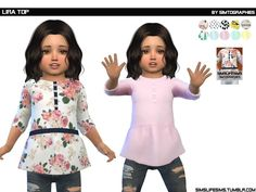- NEW MESH. Found in TSR Category 'Sims 4 Toddler Female'