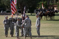 Soldiers, family and friends gathered at Brown Parade Field at Fort Huachuca, Ariz., for the Raymond W. Bliss Army Health Center change of command ceremony June 29, 2015.