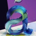Painted Typography by Pawel Nolbert
