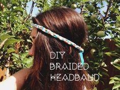 DIY Braided Headband - great way to use scrap fabric! #DIY #Hair #Green #Headband