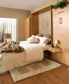 Maximize your space in comfort and style with a Tailored Living Murphy bed.