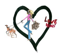 Love Henri #bendelgirlslove Henri Bendel #henribendel #illustrations #wendyheston likes #shopbendel #charmiesbywendy loves #henribendelilustrations