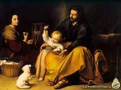 Global Gallery 'Holy Family with a Bird' by Bartolome Esteban Murillo Framed Painting Print Size: Prayer For Family, Marriage And Family, Painting Frames, Painting Prints, Oil Paintings, Art Print, Canvas Prints, Esteban Murillo, Jesus E Maria