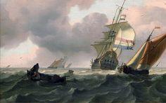 Backhuysen, Ships in an estuary near the Dutch coast | Flickr - Photo Sharing!