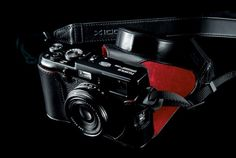 FujiFilm's x100, of the limited edition black variety. Beautiful.