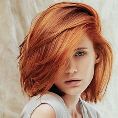 If you are looking for a new, bright and eye-catching hair color this bob hairstyles with red hair color shades will be your guide to a beautiful hair color. Short Red Hair, Short Hair Styles, Blonde Bob Haircut, Stacked Bob Hairstyles, Bob Haircuts, Red Hair Color, Copper Hair Colors, Ginger Hair, Hair Highlights