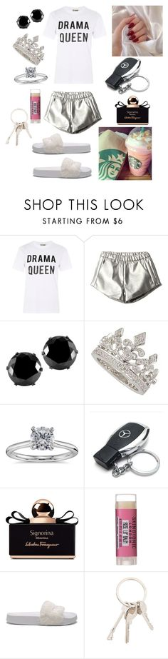 """""""Out for breakfast"""" by isabelalalbarelli on Polyvore featuring Love, West Coast Jewelry, Blue Nile, Mercedes-Benz, Salvatore Ferragamo, Skin & Tonic, Puma e Givenchy"""