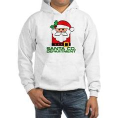 Santa Department Women's Hooded Sweatshirt> Santa Co. Department> NASDESIGN 88 - Designer Marketplace Shop