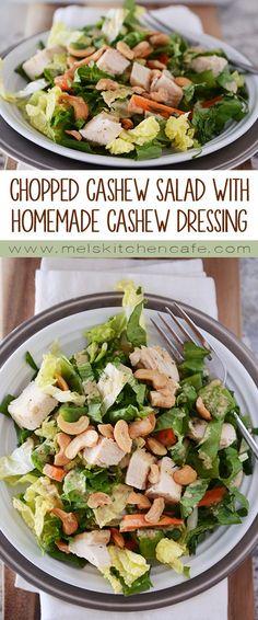 Chopped Cashew Chicken Salad with Homemade Creamy Cashew Dressing