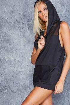 Sheer Top Street Hoodie - CAPPED PRESALE ($90AUD) by BlackMilk Clothing