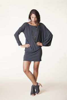Andrew Tunic in Charcoal Bamboo Thermal | Carol Young | Undesigned