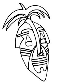 1000+ images about coloriage Afrique Masque on Pinterest | Ancient egypt, African design and ...