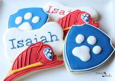 Paw Patrol Inspired Cookies, Puppy Cookies, Firefighter Cookies, Kids Birthday Cookies, Children's party, Character Cookies