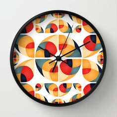 Fantasy Garden Pattern II Wall Clock by VessDSign - $30.00