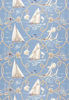 172970 Summer Regatta Water by Schumacher Fabric Textile Patterns, Textile Design, Textiles, Shape Design, Pattern Design, Mural Art, Paper Background, Pattern Wallpaper, Surface Design