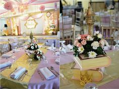 Sadie s Chic Fairytale Themed Party – Table Centerpiece Party Table  Centerpieces 0bc96ebb1