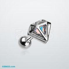 Urban Iridescent Diamond Cartilage Tragus Earring