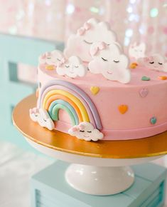 """NJ Kids' Party Planner on Instagram: """"Is Spring is here yet? It is so cold out today! It honor of those fuzzy Spring feelings, I wanted to show you this pastel rainbow birthday…"""" Kids Party Planner, Rainbow Birthday, Spring Is Here, Affair, Pastel, Cold, Feelings, Desserts, Instagram"""