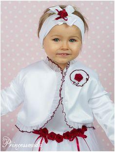 Marleen mit Mantel! Traum Taufkleid inkl. Taufmantel - Princessmoda - Alles für Taufe Kommunion und festliche Anlässe