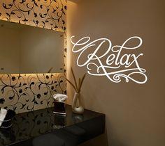 bathroom decal bathroom decor relax wall decal vinyl wall decal naked