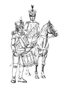 Officier et Tambour. artillerie-A. F. Telenik.