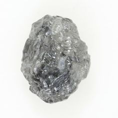 Natural Loose Diamond Rough Irregular Shape Silver Gray Color 0.87 Ct