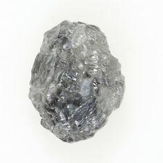 Natural Loose Diamond Rough Irregular Shape Silver Gray Color 0.87 Ct