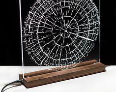 Vida - mesa lámpara madera y acrílico-