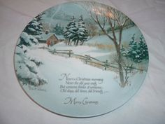 vintage decorative wall hanging christmas plate by handymanhowto, $29.95  20% off Use code 202012 @ checkout