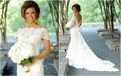 KPRC Local 2 News, Dominique Sachse walks down the aisle wearing Ines Di Santo's 'Lissome' gown!