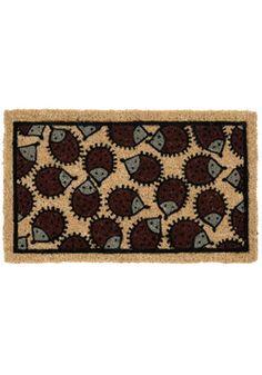 Hedgehog doormat. LOVE!