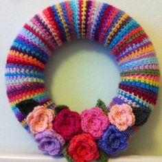 Crochet wreath ( inspired by attic 24 blog)