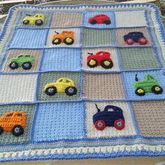 Crochet Car, Manta Crochet, Crochet For Boys, Boys Quilt Patterns, Afghan Crochet Patterns, Manta Animal, Football Blanket, Baby Girl Crochet Blanket, Baby Kind