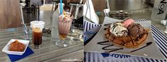 Greek style entertainment with freddo cappuccino, super calorie bomb cold chocolate, feta pastry and waffle Feta, Waffles, Wordpress, Greek, Ice Cream, Entertainment, Cold, Chocolate, Desserts