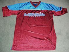 Men's Burgundy & Blue COLORADO AVALANCHE NHL Polyester Logo Jersey, Size L, GUC! #ACTIVEBrand #ColoradoAvalanche