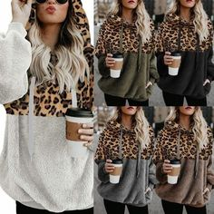 Schicke kleidung TEDDY PULLOVER - Extraordinarily heat and comfortable hoodie with a trendy leopard Winter Night Outfit, Classy Winter Outfits, Night Outfits, Casual Outfits, Fashion Outfits, Boys Dress Pants, Beste Jeans, Best Jeans For Women, Sweatshirt Outfit