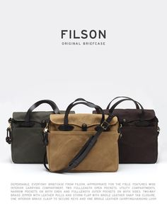The Filson Original Briefcase is perfect for the professional that keeps is casual.  A briefcase that can be worn with jeans or with a suit is a win in our eyes.