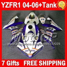 Купить товарСиний FIMER переводные 7 подарки + для YAMAHA YZFR1 04 05 06 YZF 1000 оранжевый белый P101101 YZF1000 YZF R1 04 06 YZF R1 2004 2005 2006 обтекателя в категории Щитки и художественная формовкана AliExpress.                              Удостоверение личности aliexpress: MotoGP