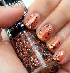 Candy corn nails for Halloween? Yes, please.