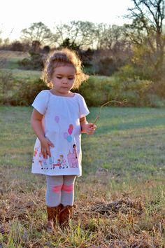 Toddler Girls Dress Peasant Dress Michael Miller by SouthernBlush