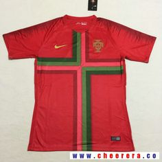 Men's Portugal Blank Home Red Thailand Short Sleeves 2018 World Cup Soccer Jersey
