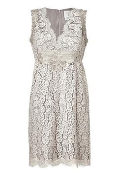 Silver Grey Lace Dress