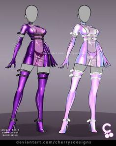 Dress Design Sketches, Fashion Design Drawings, Fashion Sketches, Anime Sexy, Anime Outfits, Fashion Outfits, Sims 4 Toddler Clothes, Anime Girl Dress, Drawing Anime Clothes