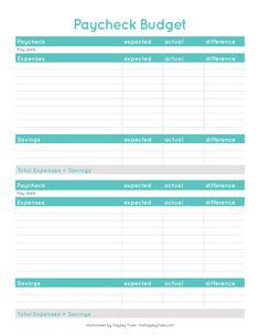 Budget Spreadsheet Template, Weekly Budget Template, Monthly Budget, Monthly Expenses, Budget Binder, Budget Planner, Excel Budget, Planner Template, Budgeting Worksheets
