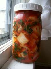 How to make Kimchi for probiotics: not just vegans but everyone should have good food sources of probiotics. Actually, especially non-vegans due to all of the anti-biotics in meats. chicken has the highest level of antibiotics for instance.