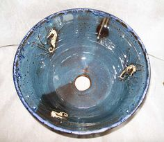 Sea Horse Pottery Vessel Sink by rikablue on Etsy, $348.00