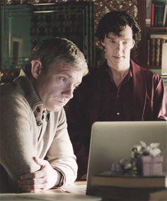 Sherlock Bbc, Sherlock Holmes John Watson, Sherlock Holmes Benedict, Dr Watson, Benedict Cumberbatch, Sherlock Cumberbatch, Bbc Tv Series, Series Movies, Martin Freeman