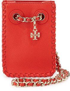 Tory Burch Marion Leather Smartphone Crossbody Bag ($275)
