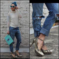 Kalinda Kano - Mikita Shades, H&M Shirt, H&M Jeans, Vintage Heels, Laddu Clutch - Baggy on baggy
